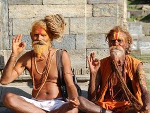 nepal reis kathmandu mannen
