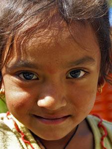 nepal reis hulpproject meisje