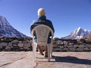 nepal reis uitzichtstoel