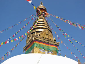 highlights nepal reis vlaggetjes