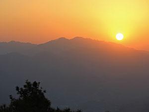 nepal reis zonsondergang