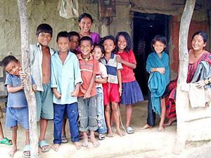 tahru volk chitwan - nepal reizen