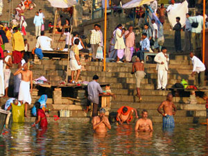 wassen varanasi india ghats