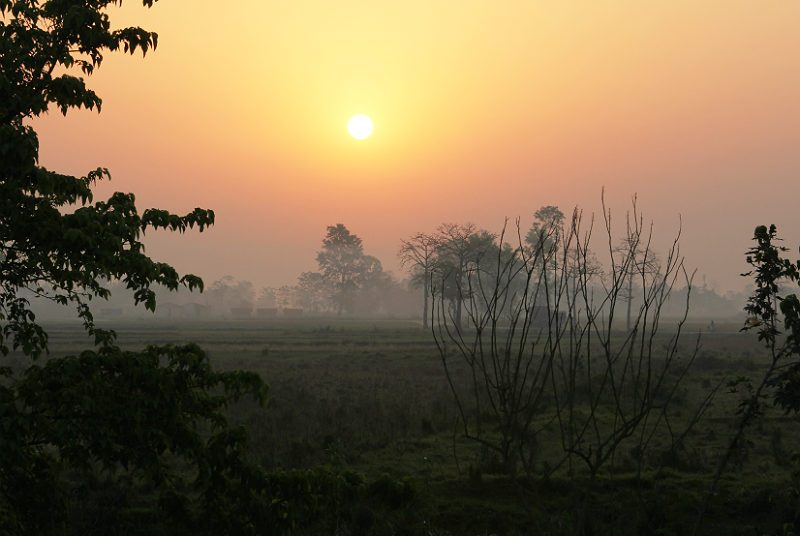 Chitwan sunset zon