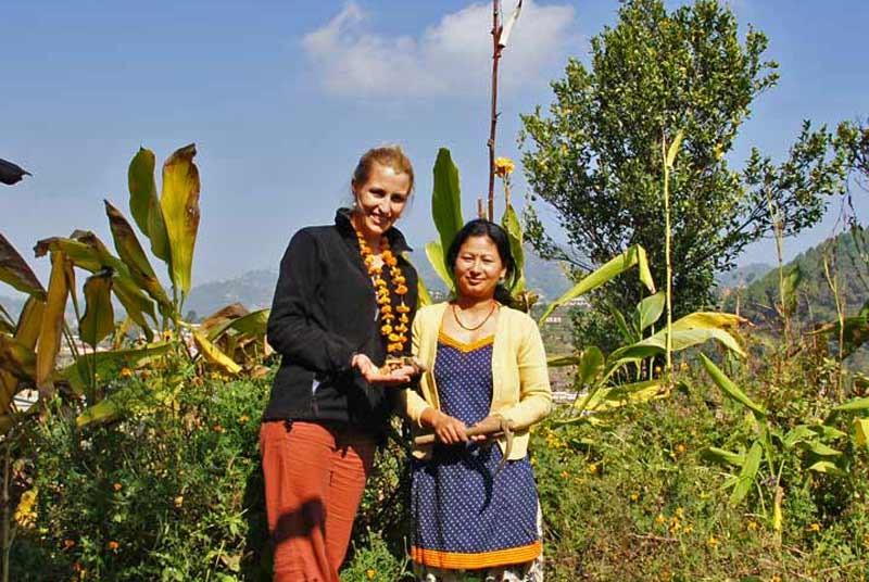 Nepal rondreis - homestay vrouwen