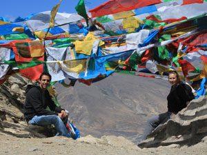 Nepal-Tibet reis - gebedsvlaggen