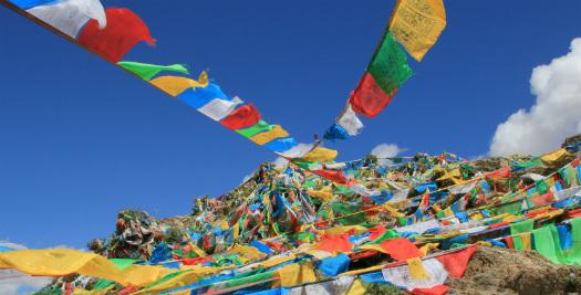 Nepal-tIiet reis - gebedsvlaggen