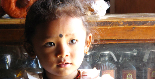 Nepal reis - Nepalees meisje
