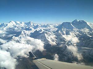 Nepal-Tibet reis - vlucht Himalaya