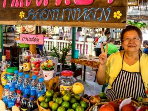 Bangkok met kinderen - lokale markt