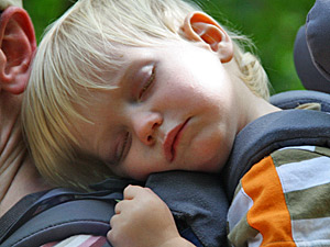 Thailand gezondheid met kinderen: rugdrager