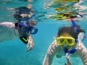 Thailand gezondheid met kinderen: snorkelen