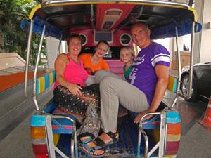 Ayutthaya Thailand met kinderen: tuktuk tour