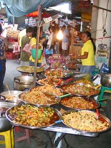 Actieve gezinsvakantie Thailand - eetstalletje Bangkok