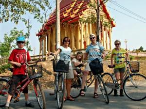 3 weken Thailand met kinderen - fietsen door Bangkok