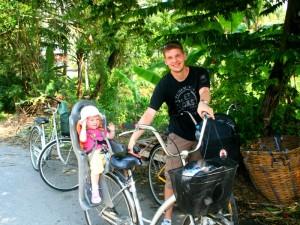 Familiereis Thailand Bangkok fietsen met kinderen