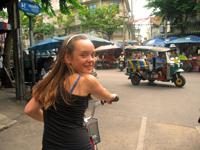 Thailand met kids - fietsen door Bangkok