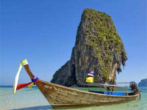Thailand strand - longtailboot