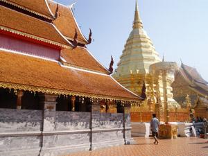 Trekking Chiang Mai met kinderen - tempel