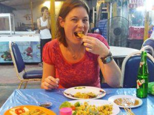 Chiang Mai met kinderen - Thais eten