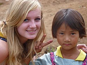 Tokkelen Chiang Mai: tiener met Thais meisje