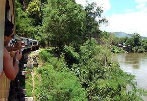River Kwai resort met kinderen - spoorlijn River Kwai