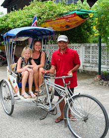 Ko Lanta Thailand met kinderen: in een riksja