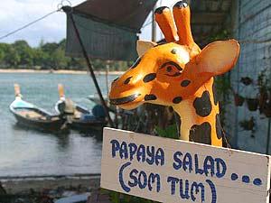 Ko Samui Thailand met kinderen: papaya salad
