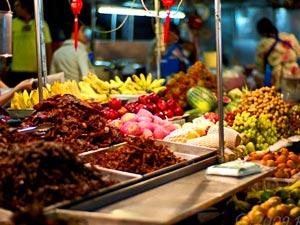 kerst rondreis Thailand: avondmarkt Hua Hin
