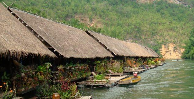 Thailand met kinderen - River Kwai jungle rafts