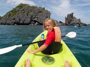 Ko Samui Thailand met kinderen: kajakken