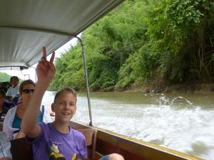 2 weken Thailand met kinderen: longtail boot