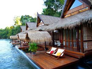 River Kwai Thailand - luxe drijvend huisje