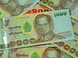 Thailand visum en geld met kinderen: Thaise baht