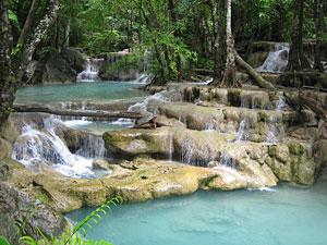 3 weken Thailand met kinderen - Erawan watervallen
