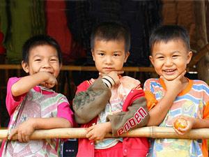 Thailand klimaat - kinderen river kwai