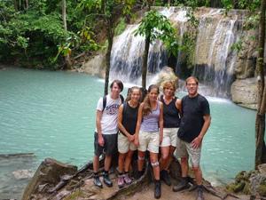 rondreis Thailand met tieners - Erawan Watervallen