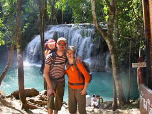 Familiereis door Thailand met kinderen: Erawan watervallen