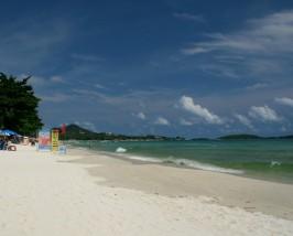 actieve gezinsvakantie Thailand - Ko Samui Thailand - strand Chaweng Beach