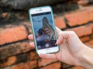 3 weken Thailand met kinderen - selfie Ayutthaya
