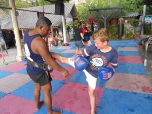 2 weken Thailand met kjnderen - Thai boksen