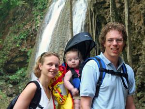 Thailand met kids - Erawan watervallen