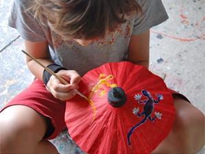 Chiang Mai met kinderen -schilderen