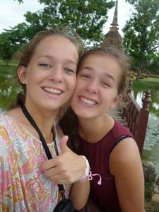 Ayutthaya Thailand met kinderen: tieners