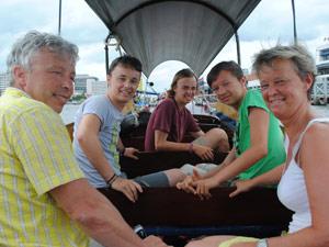 rondreis Thailand met tieners: Bangkok longtailboot