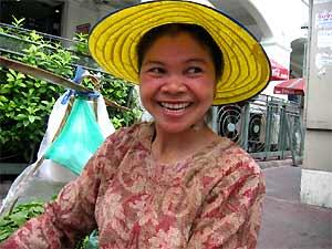 Thailand gezondheid met kinderen: vrouwtje Bangkok
