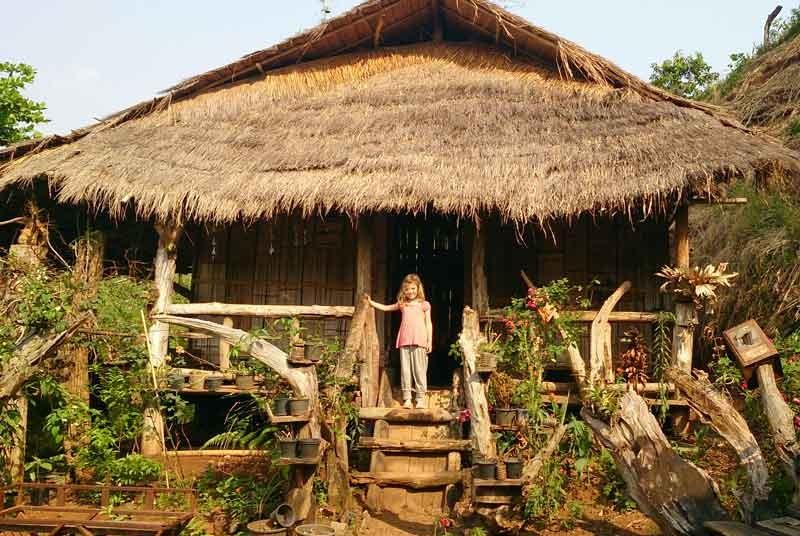 Hilltribe huis - Thailand vakantie