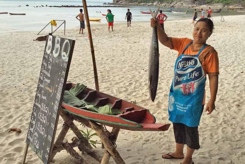 Ko Phangan Thailand Kids - BBQ op het strand