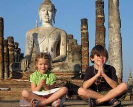 Thailand reizen met kinderen - tempel in Ayutthaya