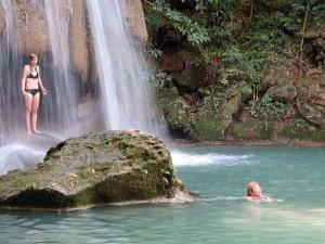 2 weken Thailand met kinderen - Erawan watervallen